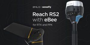 Reach RS2 funciona Como Estación Base para RTK and PPK con la Plataforma senseFly's eBee Drone 2