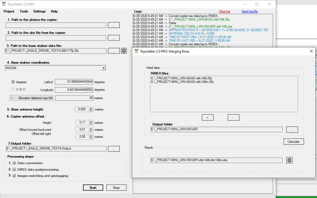 Fusionando varios archivos Rinex en uno.